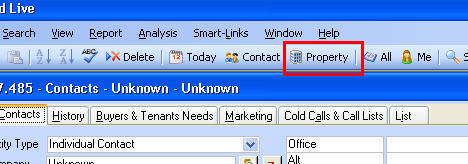How to View Both Contact and Property Sections Simultaneously