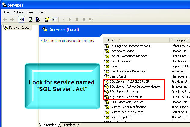 Import from Act 2005-2008, Act 10, and other SQL version of Act
